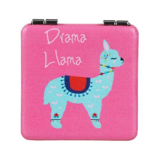 Drama Llama Square Pink Compact Mirror