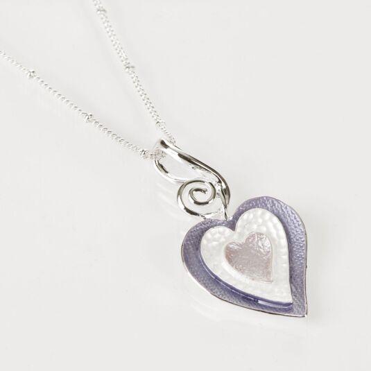 Hazy Tones Multi Heart Necklace