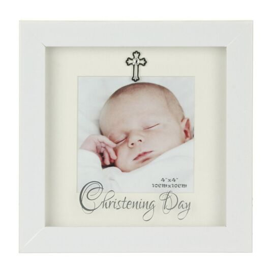 White Box 'Christening' Photo Frame 4x4