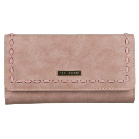 Large Pink Purse with Stitch Detail and RFID Blocker