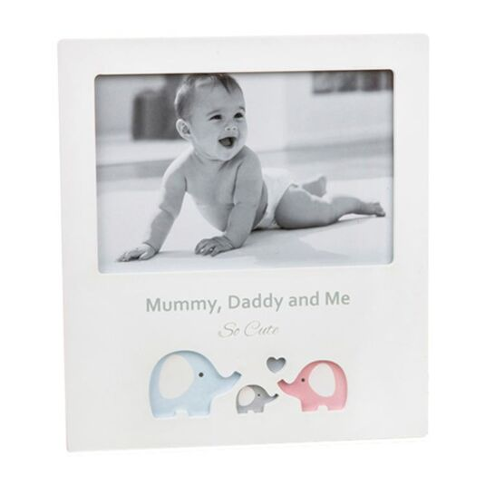 Mummy, Daddy & Me Cut Out Elephant Frame   Temptation Gifts