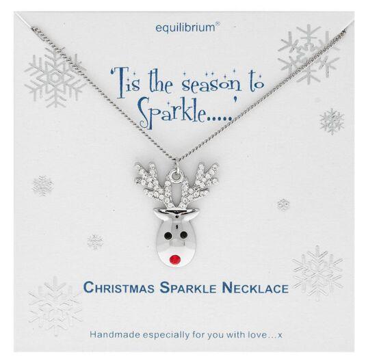 Christmas Sparkle Reindeer Necklace