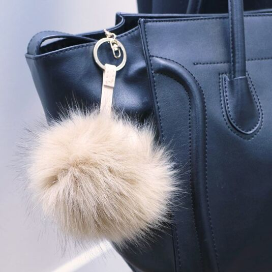 Caramel Faux-Fur Bag Charm