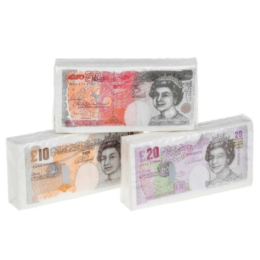 Bank Note Tissues - Choose from 3 Designs