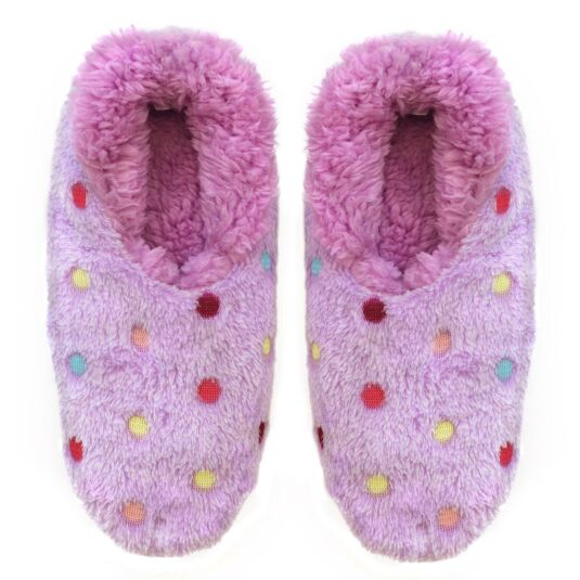 Lots a Dots Purple Slippers