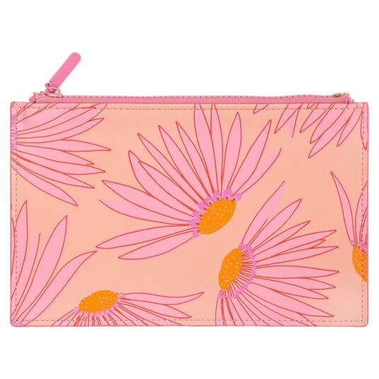 Falling Flower Filled Pencil Pouch