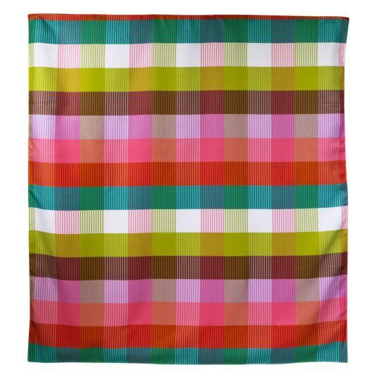 Rainbow Plaid Picnic Blanket