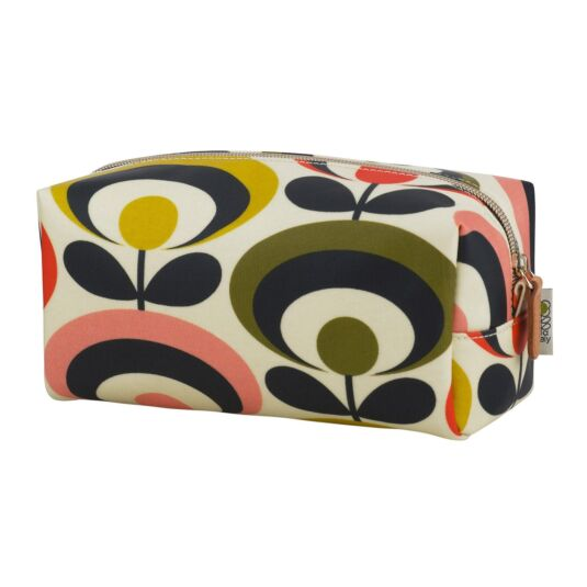 Seventies Oval Flower Large Cosmetic Bag