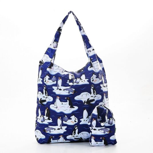 Eco Chic Penguin Foldaway Shopper