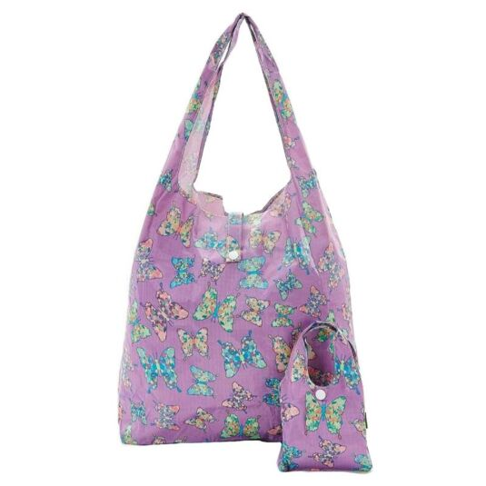 Eco Chic Lilac Butterfly Foldaway Shopper