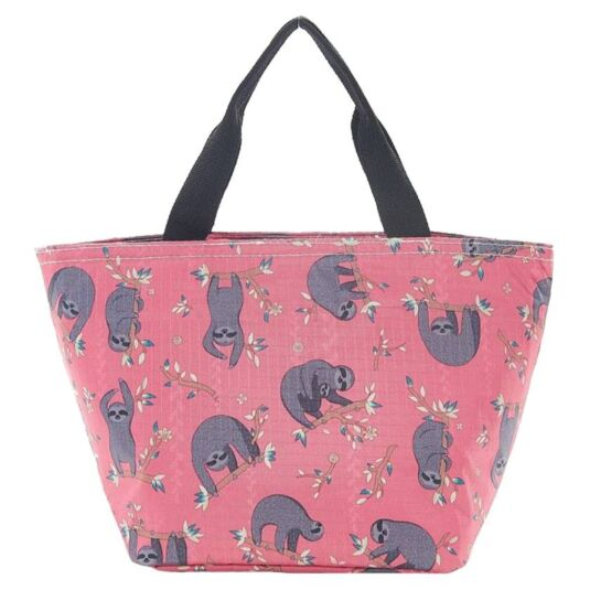 Eco Chic Fuchsia Sloth Cool Bag