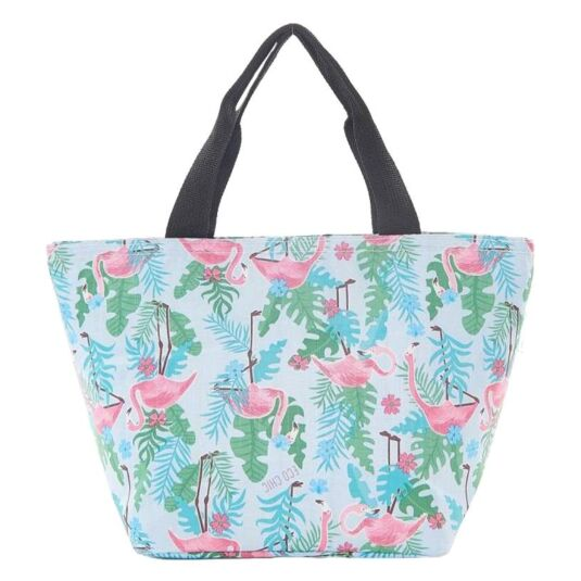 Eco Chic Blue Flamingo Cool Bag