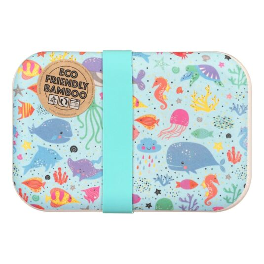 Sea Life Bamboo Lunch Box