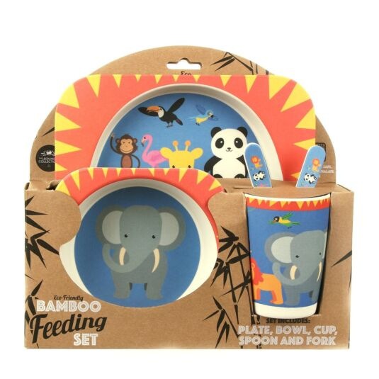 Zoo Eco-Friendly Bamboo Feeding Set