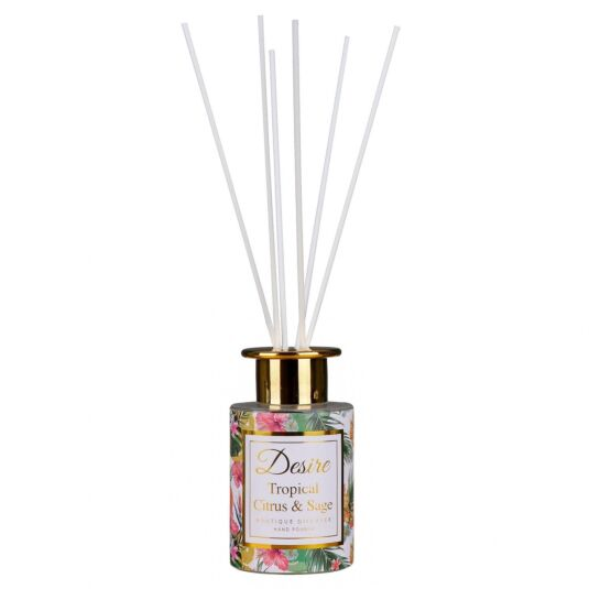 Desire Tropical Citrus and Sage Hand Poured Reed Diffuser