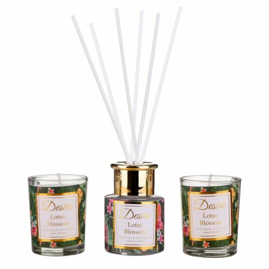 Desire Lotus Blossom Diffuser and Candle Set
