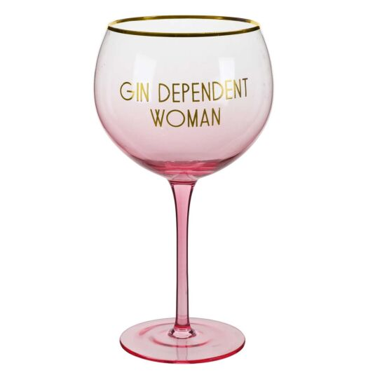 Let's Party 'Gin Dependent Woman' Gin Balloon Glass