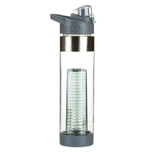 Grey Infuser Sports Bottle