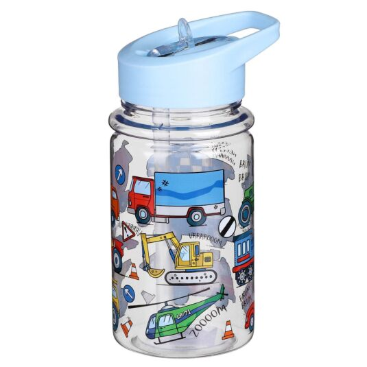 Vehicles Bottle with Straw