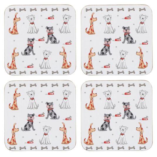 Faithful Friend Set Of 4 Dog Coasters