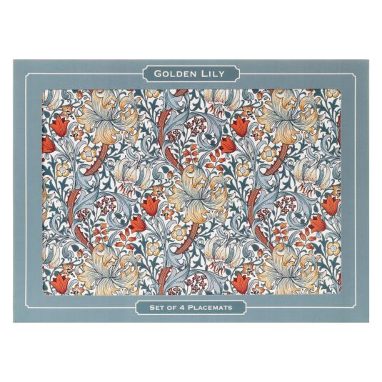 William Morris Golden Lily Pack of 4 Placemats