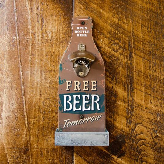 Retro Brown Beer Bottle Opener