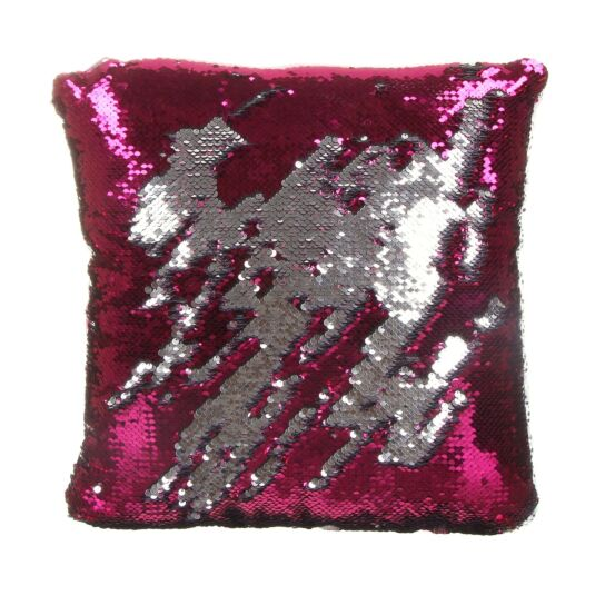 Pink/Silver Sequin Cushion