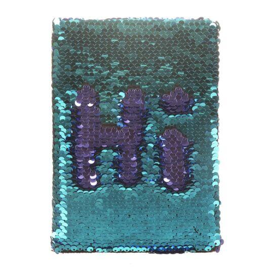 Teal/Violet Sequin Notebook