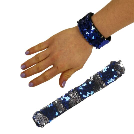 Blue/Silver Sequin Mermaid Wristband