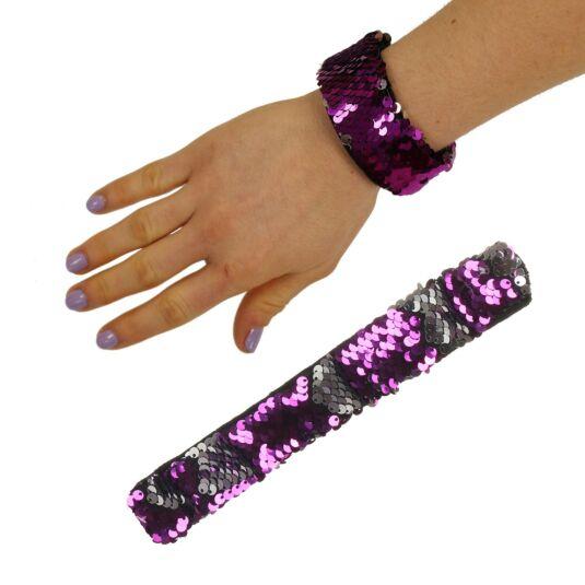 Purple/Silver Sequin Mermaid Wristband