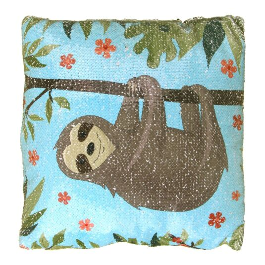 Sloth Sequin Cushion