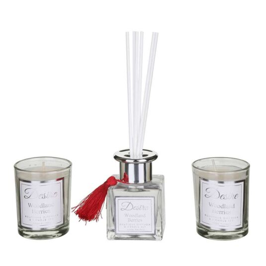 Desire Woodland Berries Diffuser and Candle Set