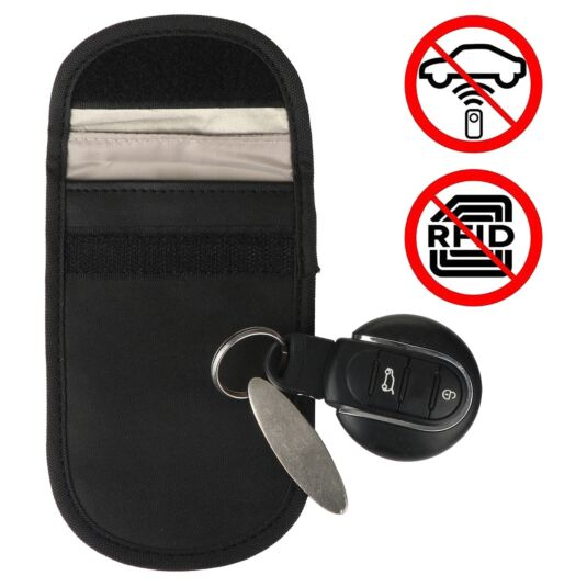 Car Key Signal Blocker Black Pouch
