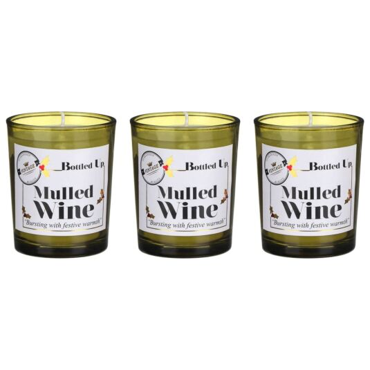 Bottled Up Mulled Wine Scented Trio of Candles