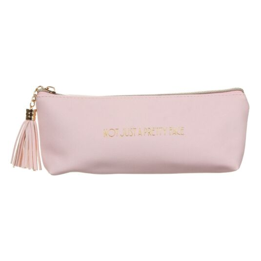 Shine Bright 'Not Just A Pretty Face' Pink Make-Up Bag