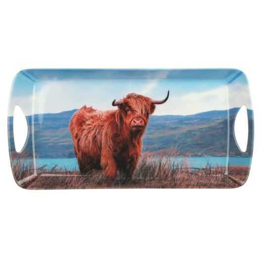 Highland Cow Tray with Handles