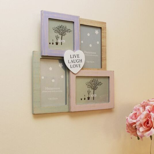 Temptation Live Laugh Love 4 Way Collage Frame Temptation Gifts