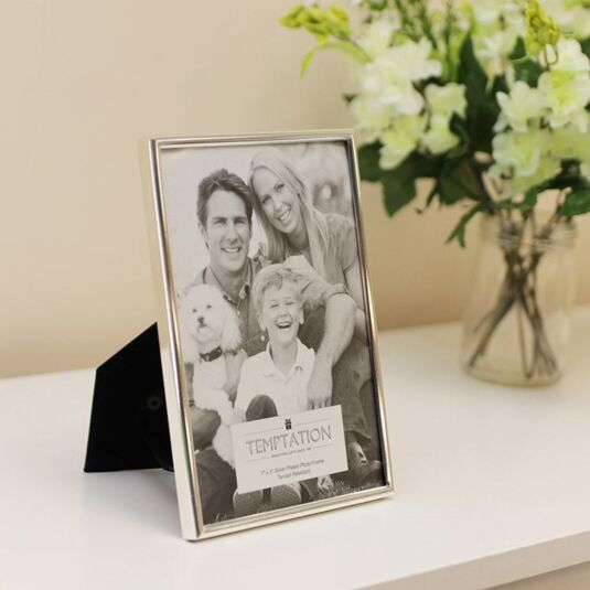 Silver Plated Narrow Edge Photo Frame 7x5