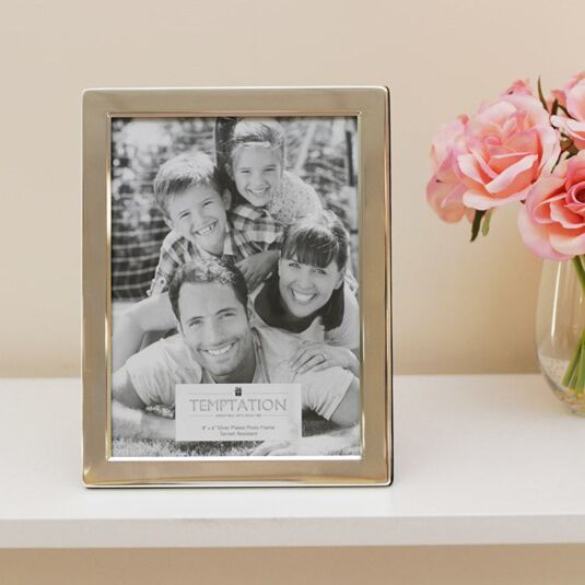 Silver Plated Wide Edge Photo Frame 8x6
