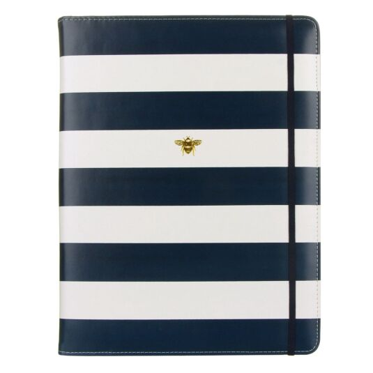 Navy Stripe Notepad Folio