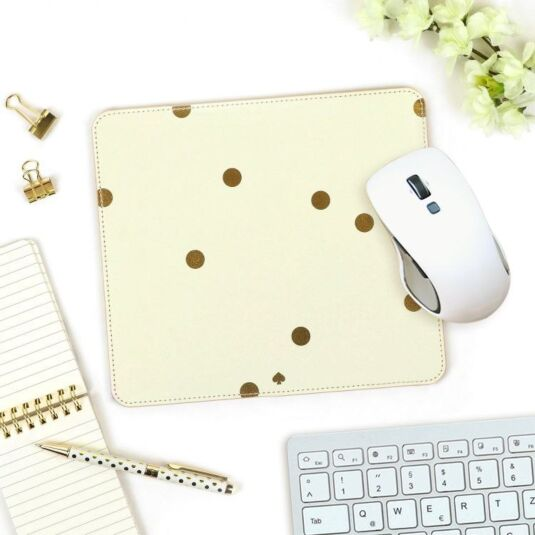 Gold Dots Mouse Pad