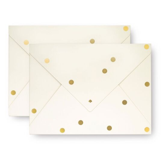 Set of Two Gold Dots Envelope Folio