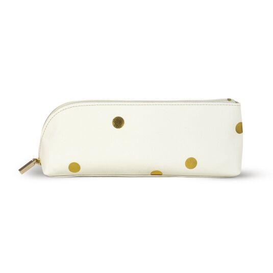 Gold Dots Filled Pencil Case