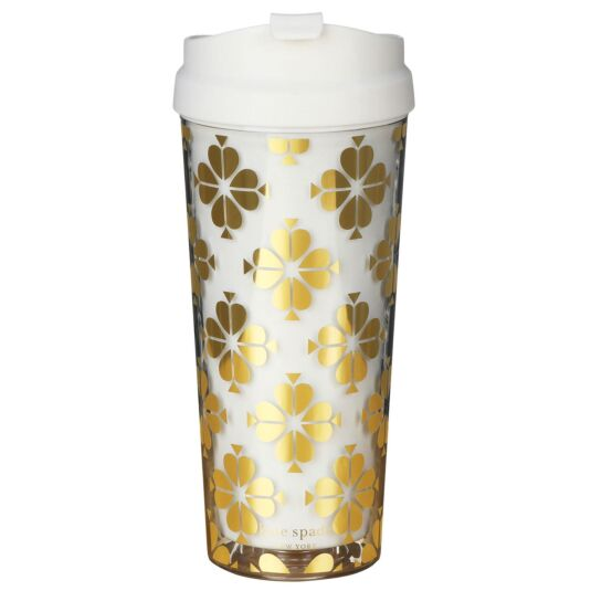 Gold Spade Flower Thermal Mug