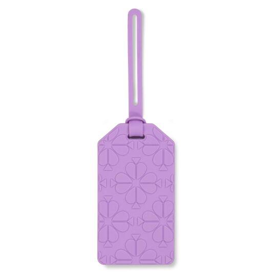 Lilac Spade Flower Luggage Tag