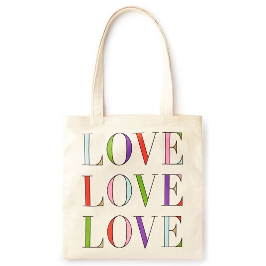 Love Love Love Canvas Book Tote
