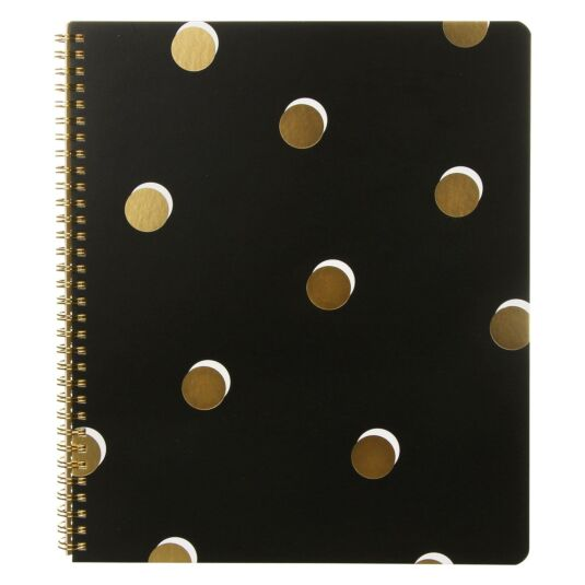 Scatter Dot Large Spiral Notebook