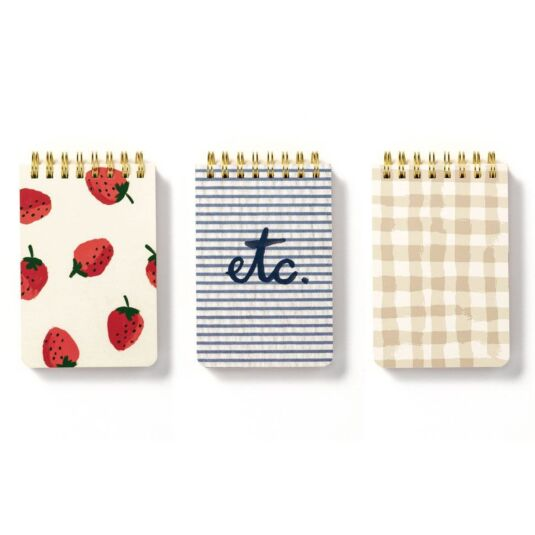 Spiral Notepad Set Strawberries
