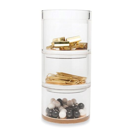 Strike Gold Stackable Desk Organiser Set