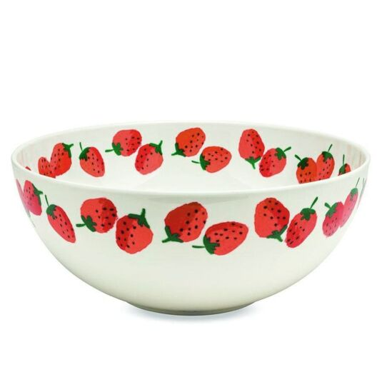Strawberries Melamine Serving Bowl